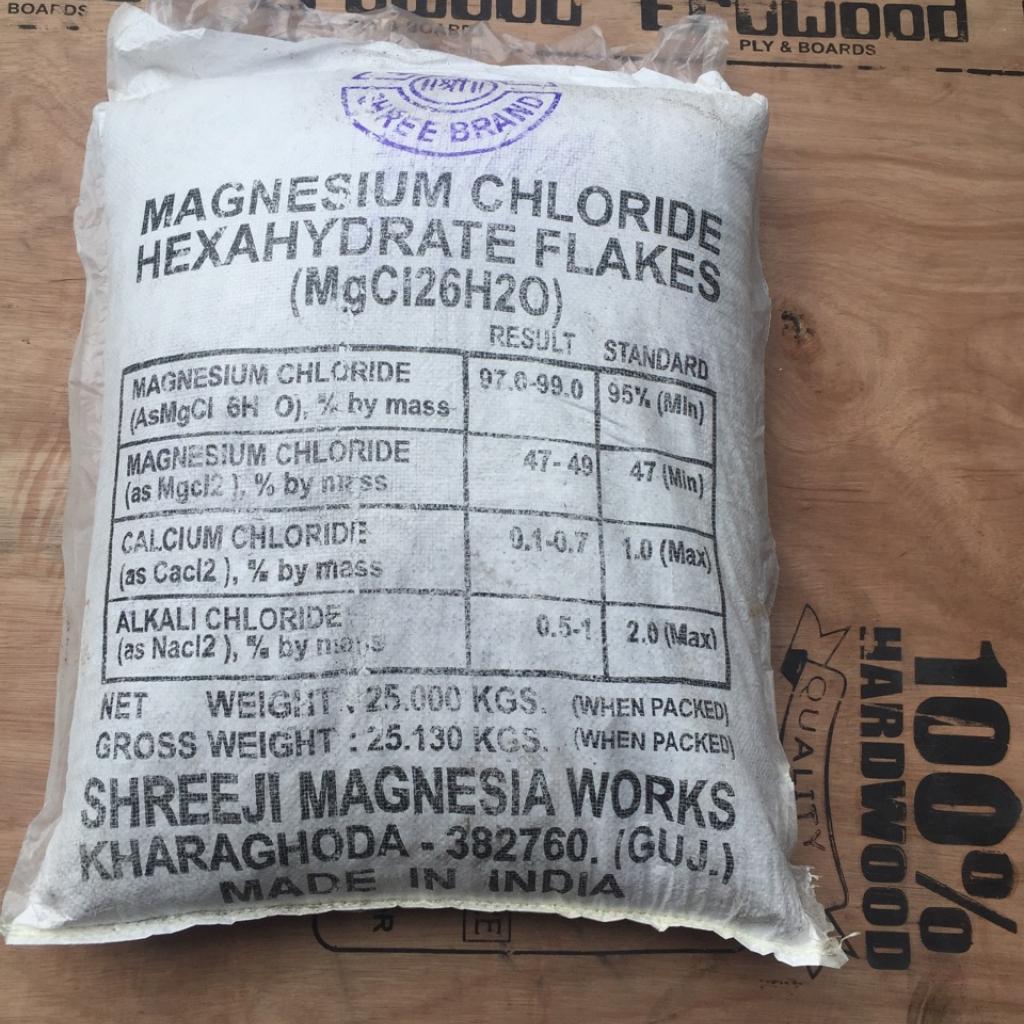 Cung cấp MgCl2, magie chlorua,  Magiesium chloride dùng trong thủy sản